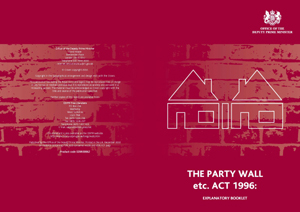 Party walls 2 for Party wall act 1996